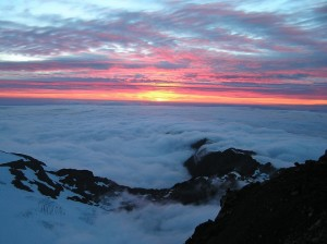 Mount Olympus, home of gods in the clouds